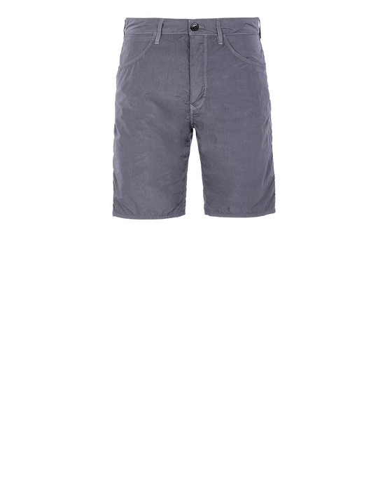 STONE ISLAND L11J2 NYLON TELA-TC RE Bermuda shorts Man Blue Grey