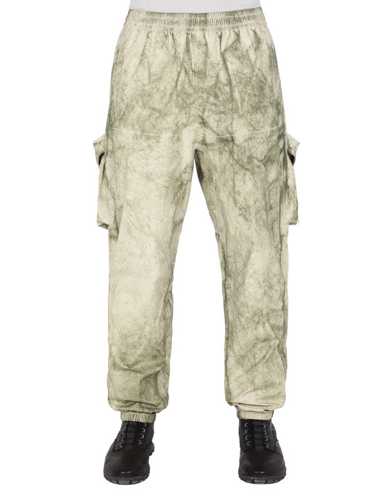 Trousers Man 30628 MEMBRANA + OXFORD 3L WITH DUST COLOUR FINISH Front STONE ISLAND