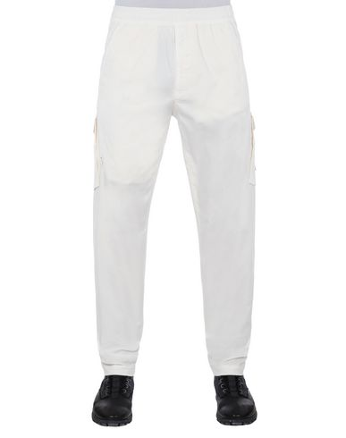 STONE ISLAND 310F2 GHOST PIECE  Pants Man Natural White USD 214