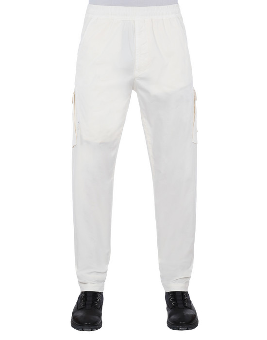STONE ISLAND 310F2 GHOST PIECE  Trousers Man Natural White