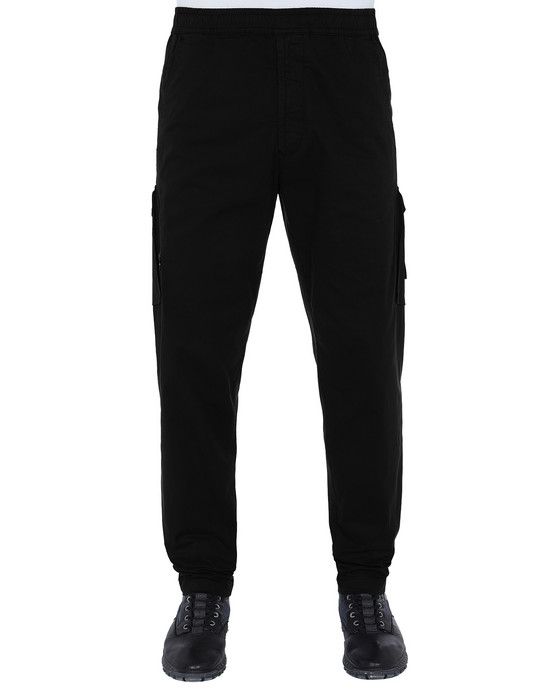 STONE ISLAND 310F2 GHOST PIECE  Trousers Man Black