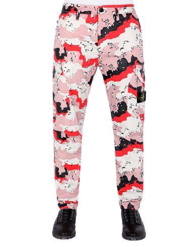 STONE ISLAND 323EF 3C + PU DESERT CAMO Trousers Man Stucco EUR 309