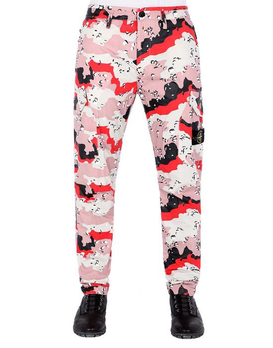 STONE ISLAND 323EF 3C + PU DESERT CAMO Trousers Man Stucco