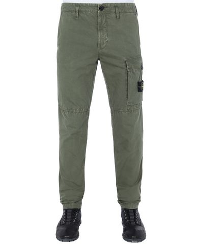 STONE ISLAND 312WA T.CO+OLD Pants Man Olive Green EUR 185
