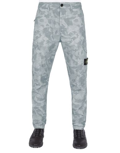 STONE ISLAND 323ED BIG LOOM CAMO   Pants Man Pale Blue USD 279