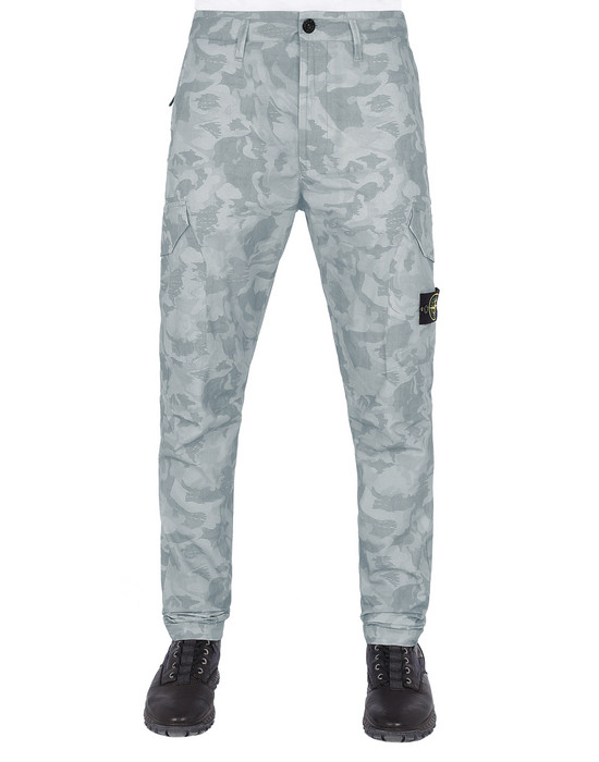 STONE ISLAND 323ED BIG LOOM CAMO   Pants Man Sky Blue