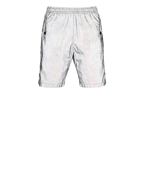 STONE ISLAND L0299 PLATED REFLECTIVE WITH DUST COLOUR FINISH Bermuda shorts Man