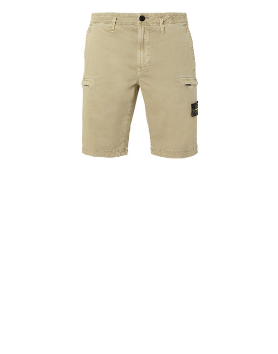 STONE ISLAND L0504 T.CO+OLD Bermuda shorts Man Dark Beige