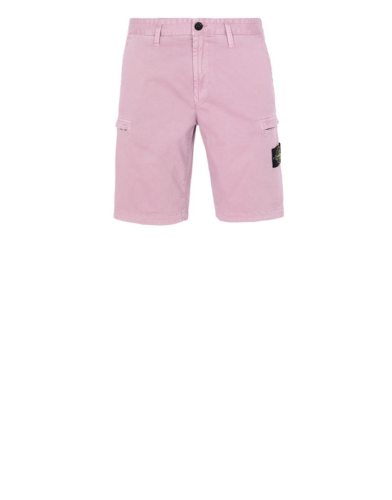 STONE ISLAND L0504 T.CO+OLD Bermuda shorts Man Pink Quartz