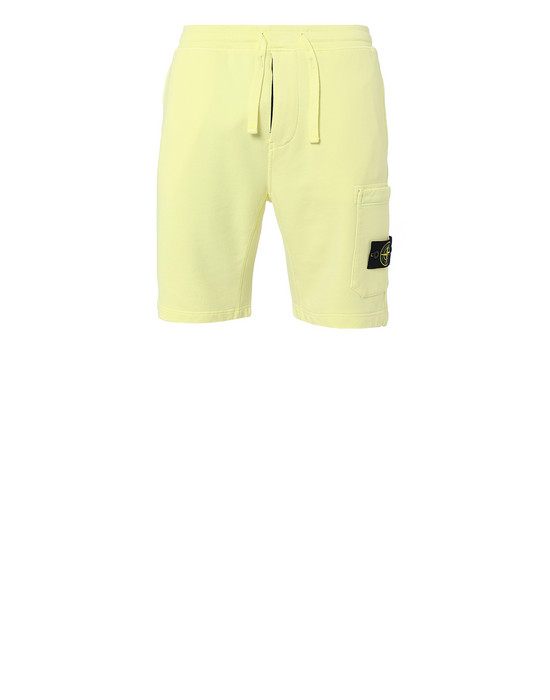 STONE ISLAND 64651 FLEECE BERMUDA SHORTS Man Lemon