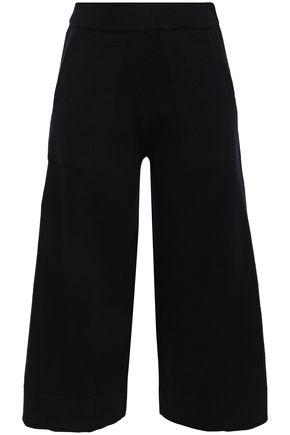 MICHAEL KORS COLLECTION Cropped cashmere-blend wide-leg pants