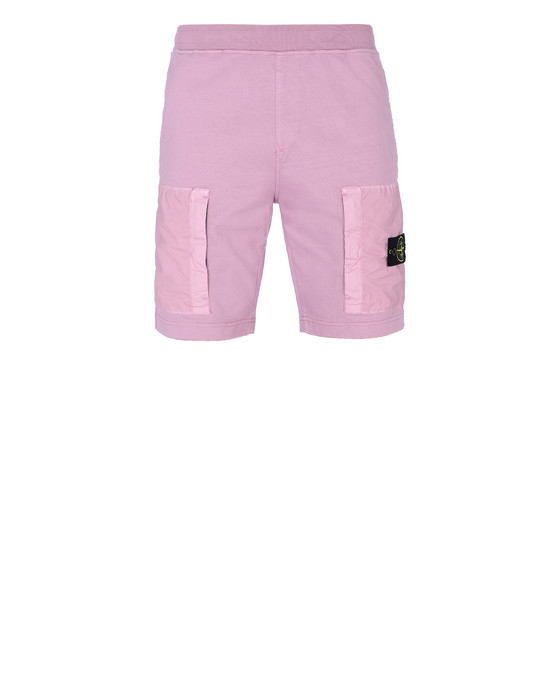STONE ISLAND 62353 FLEECE BERMUDA SHORTS Man Pink Quartz