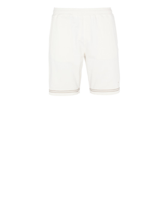STONE ISLAND 60951 FLEECE BERMUDA SHORTS Man Ivory