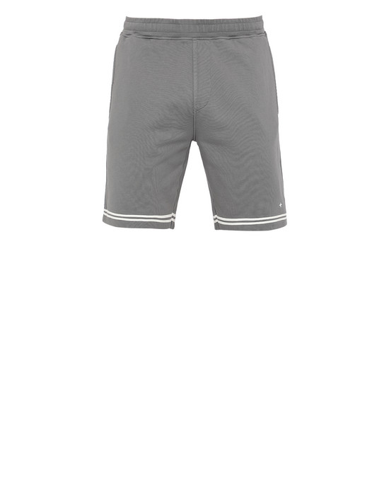 STONE ISLAND 60951 FLEECE BERMUDA SHORTS Man Blue Grey