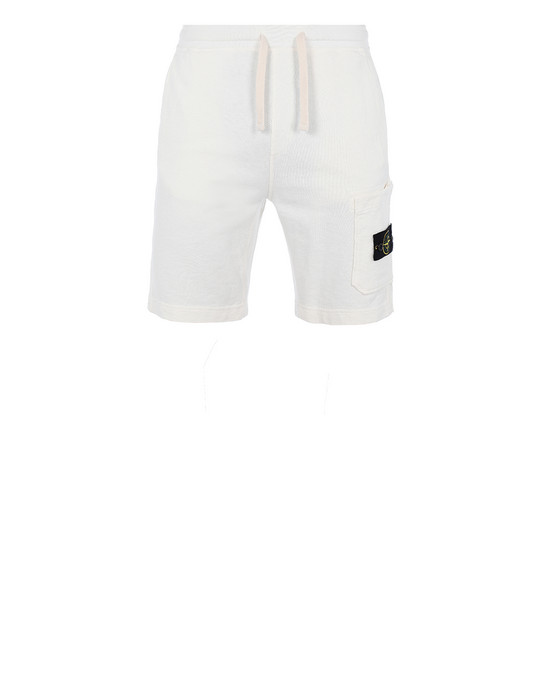 STONE ISLAND 63460 T.CO+OLD FLEECE BERMUDA SHORTS Man Ivory