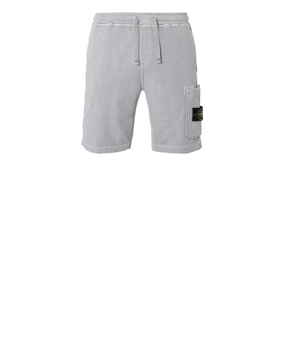 STONE ISLAND 63460 T.CO+OLD FLEECE BERMUDA SHORTS Man Dust Gray