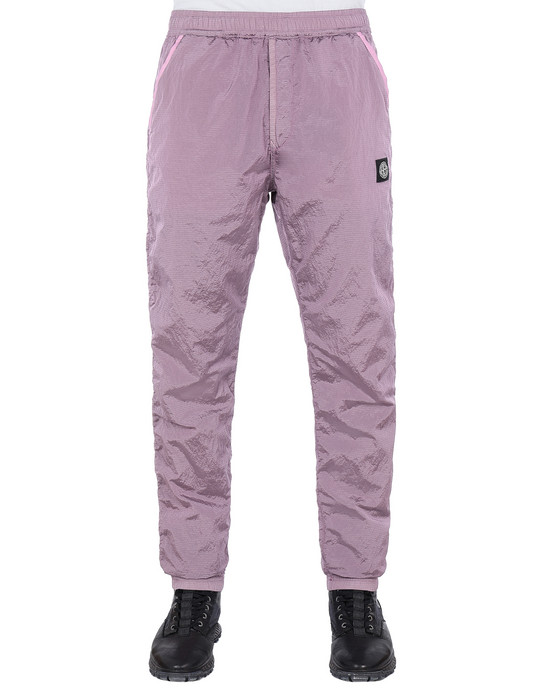 STONE ISLAND 65236 NYLON METAL RIPSTOP Fleece Trousers Man Pink Quartz