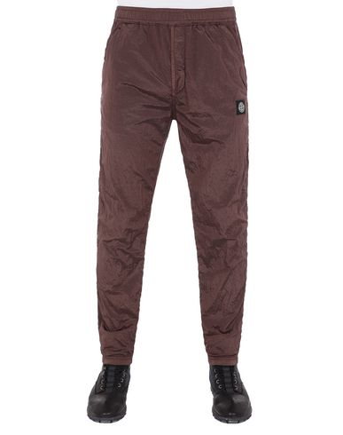 STONE ISLAND 65236 NYLON METAL RIPSTOP Fleece Trousers Man MAHOGANY BROWN EUR 335