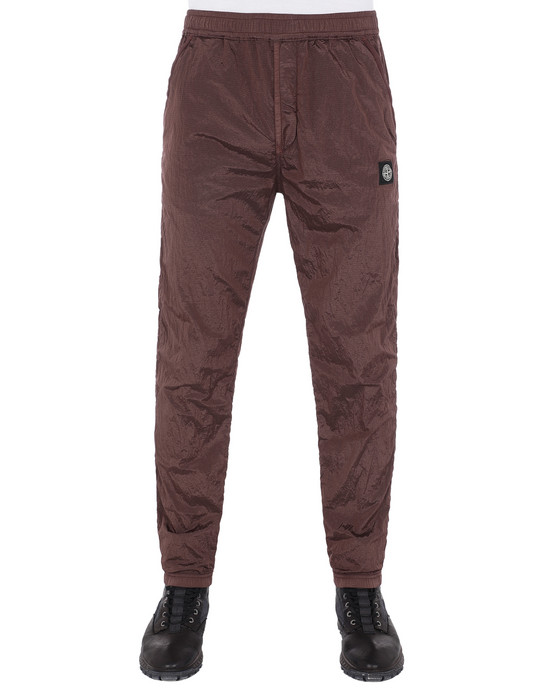 STONE ISLAND 65236 NYLON METAL RIPSTOP Fleece Pants Man MAHOGANY BROWN