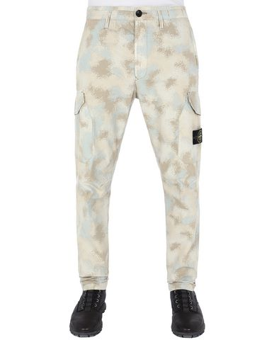 STONE ISLAND 323EE CAMO DÉVORÉ  Pants Man Dove Gray USD 214
