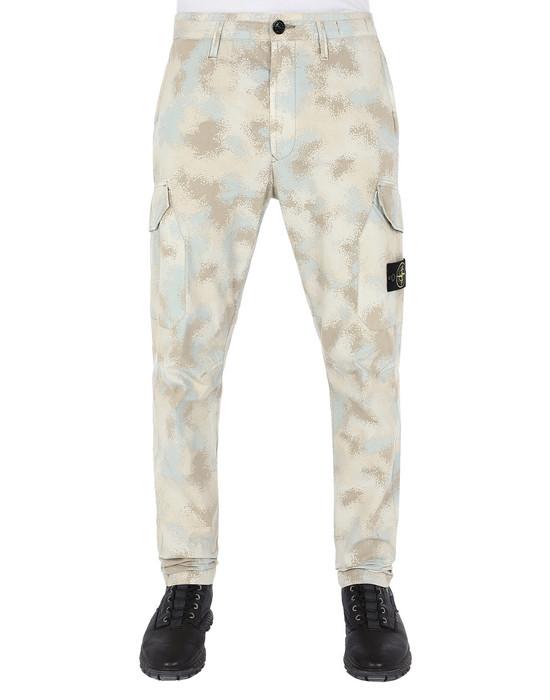 Sold out - STONE ISLAND 323EE CAMO DÉVORÉ  Pants Man Dove Gray