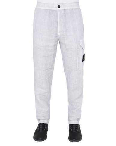 "STONE ISLAND 31101""FISSATO""DYE TREATMENT Pants Man Dust Gray USD 232"
