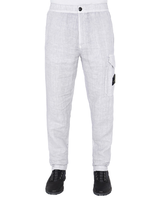 "STONE ISLAND 31101""FISSATO""DYE TREATMENT Trousers Man Dust Grey"