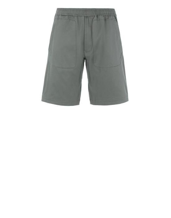 STONE ISLAND L0605 Bermuda shorts Man Olive Green