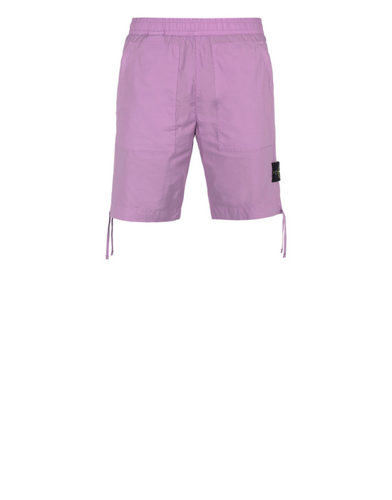 STONE ISLAND L0103 Bermuda shorts Man Pink Quartz
