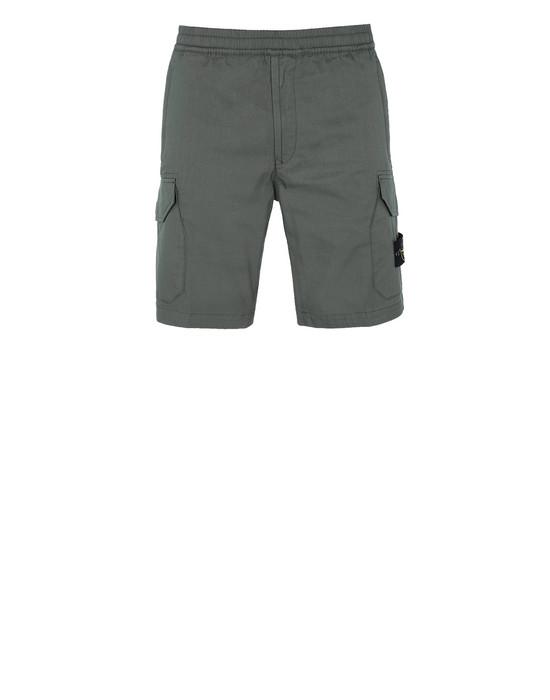 STONE ISLAND L0814 Bermuda shorts Man Olive Green