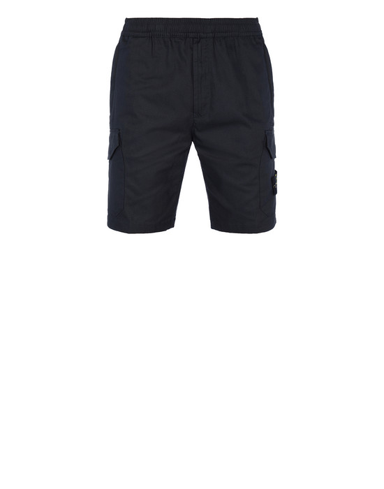 STONE ISLAND L0814 Bermuda shorts Man Blue