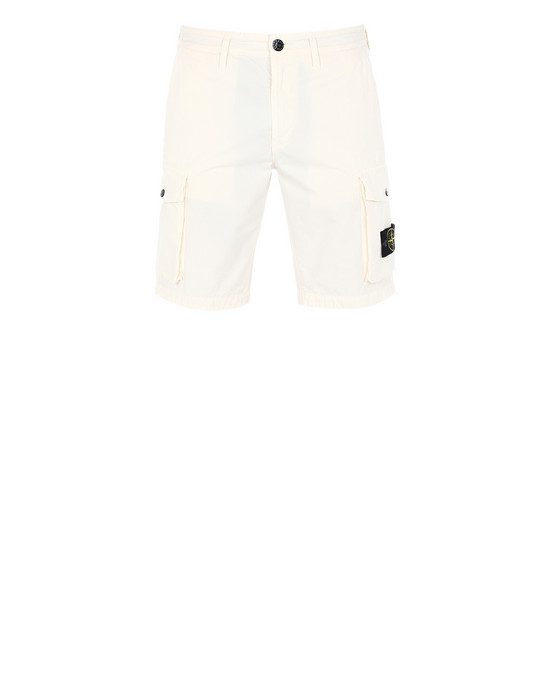 STONE ISLAND L07WA T.CO+OLD Bermuda shorts Man Ivory