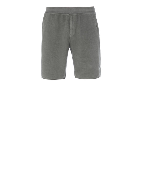 STONE ISLAND 61440 FLEECE BERMUDA SHORTS Man Mud