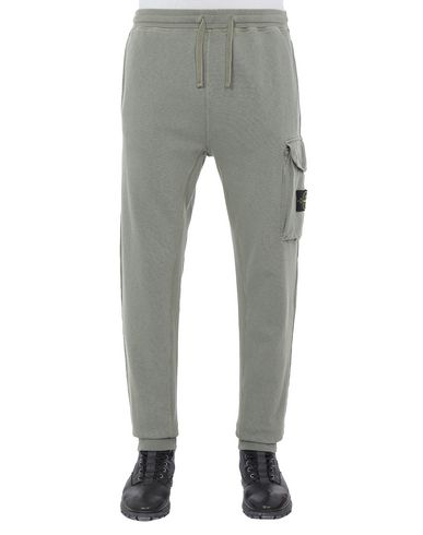 STONE ISLAND 65760 T.CO+OLD Fleece Pants Man Olive Green USD 190