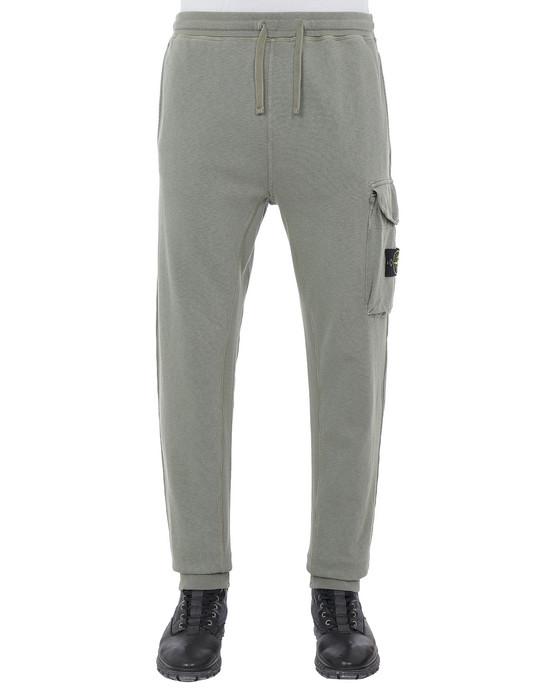STONE ISLAND 65760 T.CO+OLD Fleece Pants Man Olive Green