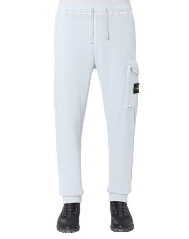 STONE ISLAND 65760 T.CO+OLD Fleece Pants Man Sky Blue EUR 252