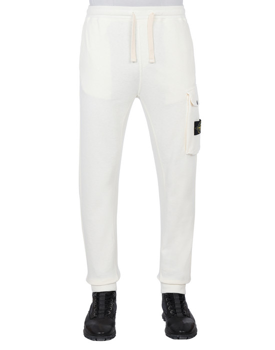 STONE ISLAND 65760 T.CO+OLD Fleece Pants Man Ivory