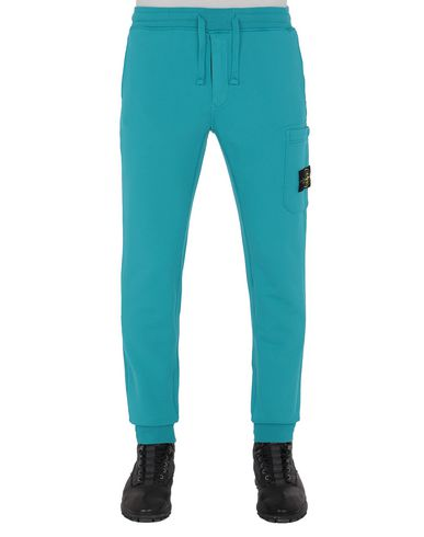 STONE ISLAND 64551 Fleece Trousers Man Turquoise EUR 239