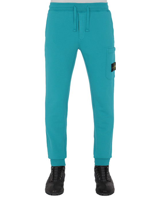 STONE ISLAND 64551 Fleece Pants Man Turquoise
