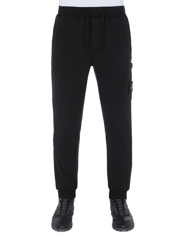 STONE ISLAND 64551 Fleece Pants Man Black EUR 169