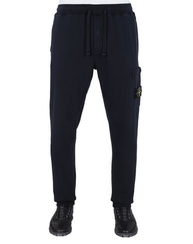 STONE ISLAND 64551 Fleece Trousers Man Blue EUR 218