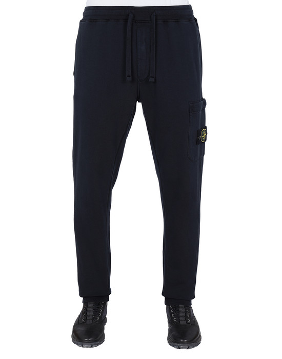 STONE ISLAND 64551 Fleece Trousers Man Blue