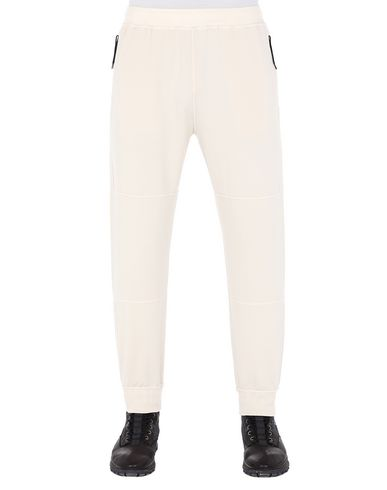 STONE ISLAND 62652 Fleece Trousers Man Beige EUR 193