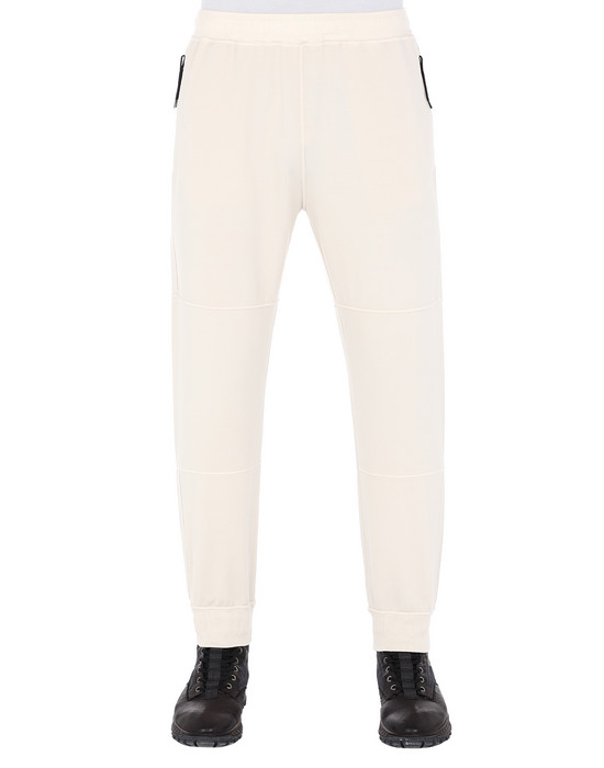 STONE ISLAND 62652 Fleece Pants Man Beige