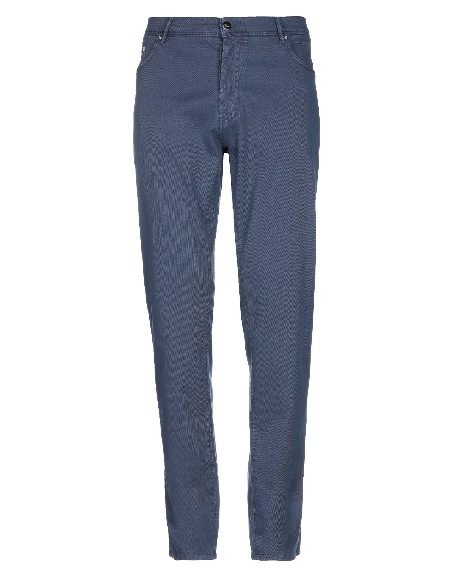 《期間限定セール開催中!》DOUBLE EIGHT メンズ パンツ ブルーグレー 38 コットン 97% / ポリウレタン 3%