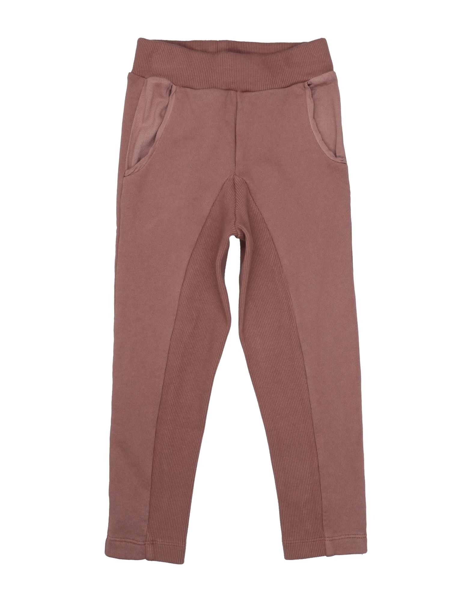 Miss Pois Kids' Casual Pants In Brown