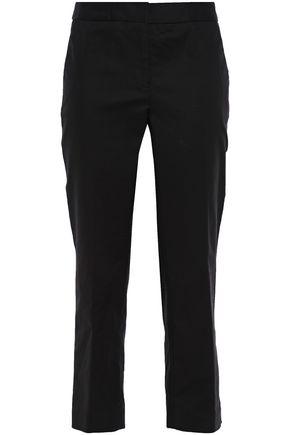 MICHAEL MICHAEL KORS Cropped striped stretch-cotton straight-leg pants