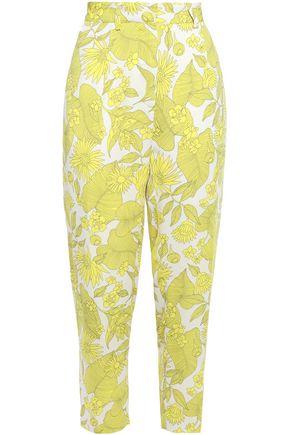 BAUM UND PFERDGARTEN Floral-print crepe de chine tapered pants