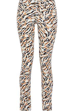 ROBERTO CAVALLI Printed low-rise skinny-leg jeans