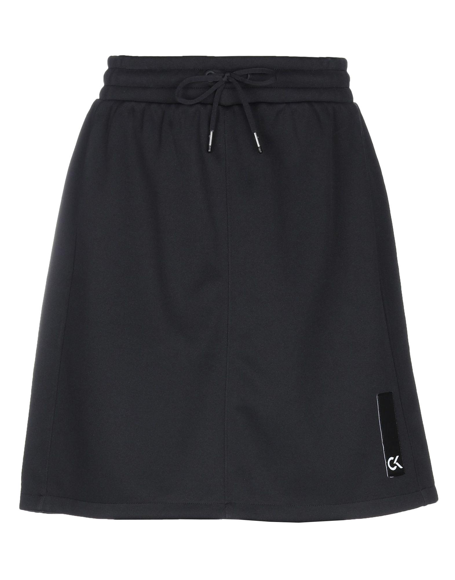 《セール開催中》CALVIN KLEIN PERFORMANCE レディース ひざ丈スカート ブラック S ポリエステル 95% / レーヨン 4% / アクリル 1%